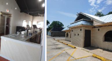 Interior and exterior photos of Smoken Pit